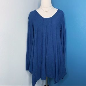 Cut Loose Navy Long Sleeve Swing Top Size Small